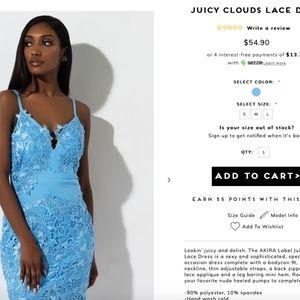 Akira Juicy clouds lace dress